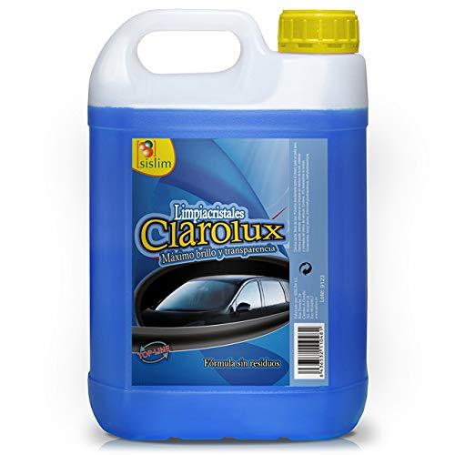 Sisbrill Clarolux Limpiacristales Sin Marcas - Limpia a Fondo y Evita los rayones en el Parabrisas - 5 litros