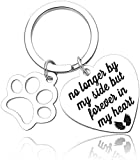 Pet Memorial Gift Keychain For Dogs Cats personalized -Loss Of Pet Sympathy DIY Crafts Keepsake -No Longer By My Side Forever In My Heart Cat Remembrance Jewelry Keyrings