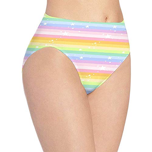 Web--ster Ropa Interior con Estampado de arcoíris Estrella de Las Mujeres, Bragas de...