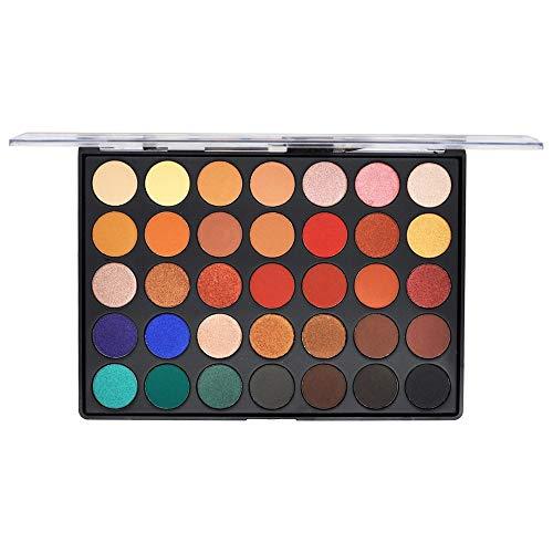 Auifor 35 kleuren matte glans aarde warme kleuren oogschaduw paletten make-up oogschaduw 02#