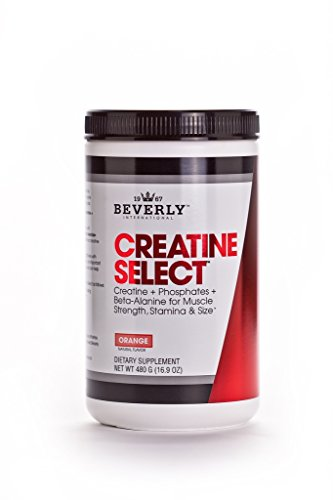 Beverly International Creatine Select with Phosphates 40 servings Since 2003 the only failproof creatine formula Boosts muscle size and strength every time For men and women Tastes like Tang