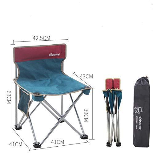 MoonyLI Ultraleichter tragbarer Klappstuhl für den Außenbereich,Multifunktionsfreizeitstuhl,Fischenstuhlskizzenstuhl Campinghocker mit Lehne,Deal für Camping, Angeln, Outdoor etc