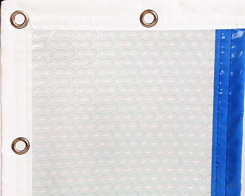 INTERNATIONAL COVER POOL Cobertor térmico 500 micras GeoBubble Sol+Guard para Piscina de 4 x 8 Metros con Refuerzo en los Anchos