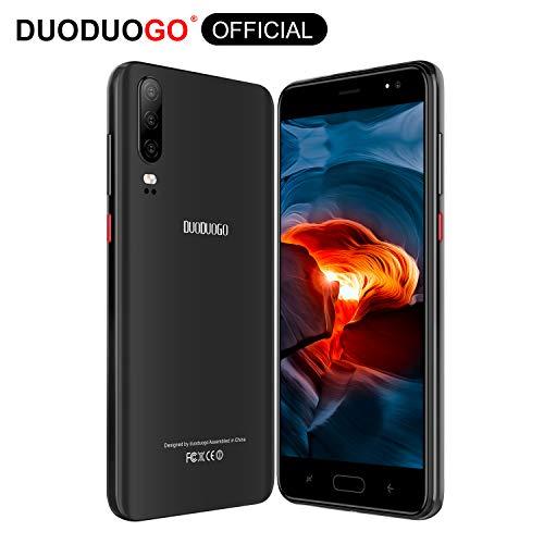 DUODUOGO J5+ Smartphone 4G mit Android 9.0 und Android 9.0 und Handys mit 14 cm (5,5 Zoll), 16 GB bis 128 GB, 1 GB RAM, Mobilfunk, ID, 48 mAh, Dual-Kamera, Bluetooth, WLAN