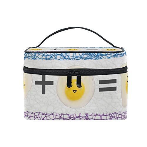 Large MultifuncationKosmetiktasche Makeup Travel Toiletry Travel Kit Organizer Case Zipper Portable Cute EggMakeup Tasche for Women