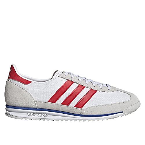 adidas SL 72, Scarpe da Ginnastica Uomo, Grey One/Ftwr White/Vivid Red, 44 2/3 EU
