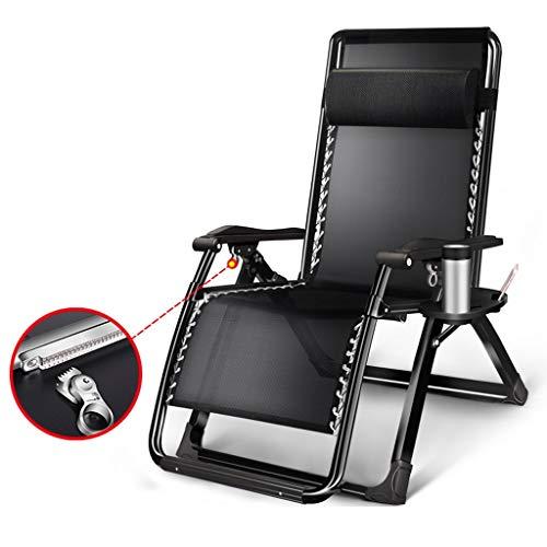 YYTY12 Ligstoel, verstelbare klapstoel, voor outdoor of kantoor, hoofdsteun, rugleuning, armleuning, bekerhouder, ademend weefsel, verstelbare stoel voor thuis A
