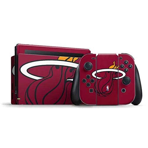 Skinit Decal Gaming Skin Compatible with Nintendo Switch Bundle - Officially Licensed NBA Miami Heat Large Logo Design