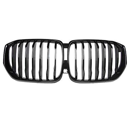 ZHANGJN Nierengrill, glänzende Schwarze Black-Fronthaube Nierengittergrills ABS-Dual-Linie kompatibel für neu -BMW X5 G05 Front-Bumper-Grill