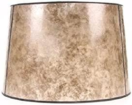 allen + roth 10-in x 15-in Blonde Mica Stone Drum Lamp Shade