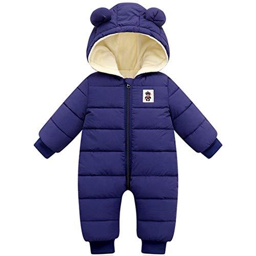 Bambino Tuta da Neve Inverno Tutina in Pile Pagliaccetto Neonati Body Tutone con Cappuccio Caldo Pigiami Interi Addensare Jumpsuit Piumino Outfits