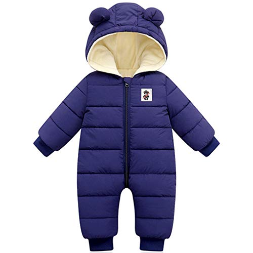 Baby Boys Girls Snowsuit Winter Romper All-in-One Hooded Jumpsuit Thicken...