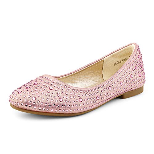 DREAM PAIRS Little Kid Muy-Shine Pink Suede Girl's Mary Jane...