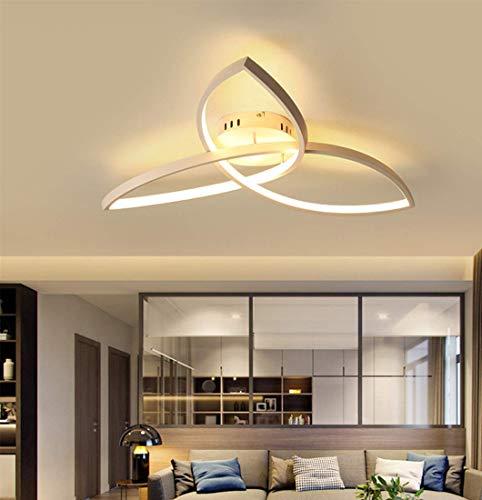 YSNJG Moderne 36 W LED acryl plafondlamp metalen deco control plafondlamp 3000-6500 K design met drie uiteinden eettafel plafondlamp slaapkamer woonkamer lamp 22,8 inch x 4,3 inch