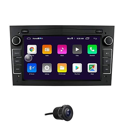 Android 10 Auto GPS Navigation Fit für OPEL Antara/Astra/Combo/Corsa C/Corsa D Unterstützung Lenkradsteuerung Bluetooth Spiegelverbindung FM-Radio (Schwarz)