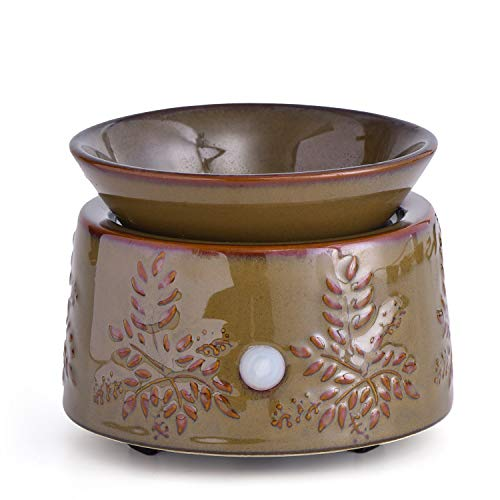 kobodon Ceramic Electric Wax Warmer Ideal for Spa and Aromatherapy Use Brand Wax Melts and Cubes as Well as Essential Oils and Fragrance Candles Oils 2-in-1 Candle and Fragrance Warmer …