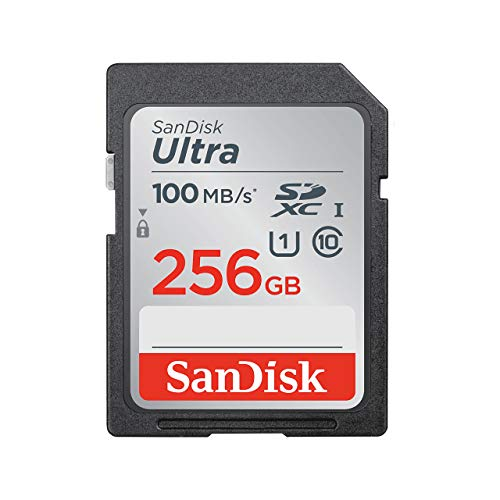 SanDisk Ultra 256Go SDHC Carte mémoire allant jusqu'à 100MB/s, Class 10 UHS I