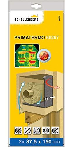 Schellenberg 66267 Rollladenkastendämmung, energiespar Isolierung für Rolladen, Dämmrollen WLG 033 PRIMATERMO 3 mm – 2 mal je 150 x 37,5 cm