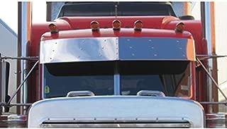 14 Inch Stainless Steel Drop Visor Fits Peterbilt 379/389/365/367/378/384/386/388