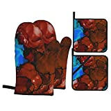 Depositphotos Stock de ilustración Abstracta Tinta líquida Coloreada Fondo (2247 Mit Guantes de Horno y Soportes para ollas Establece Guantes de Horno de Cocina Resistentes al Calor almohadi