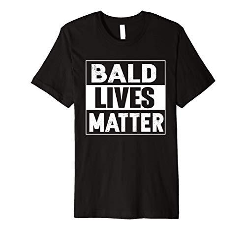 Bald Guy Dad Hair Loss Baldness Funny Joke Sarcastic Gifts Premium T-Shirt