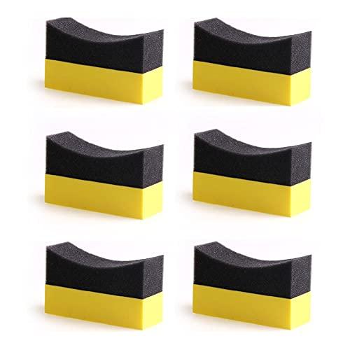 WANSHIDA QiQi Shop 6 unids Llantas de Contorno de Contorno Almohadillas aplicador Brillo Brillo Color Pulido Esponja Cera