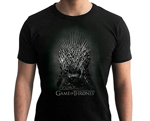 ABYstyle - Game of Thrones - T-Shirt - Throne of Iron - Homme - Noir (L)