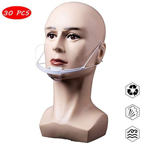 DZYQ 30 PCS Anti-Saliva Splash-Transparente Plastikmaske, Wiederverwendbarer, Anti-Fog, Anti-Staub, Geeignet Für Küche, Restaurant, Hotelsafe