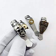 Tool Parts Steel flame Flashlight Back Clip Titanium Alloy Cross Skull Bottom Fire Under Fire Back Clip Flashlight Clip To...