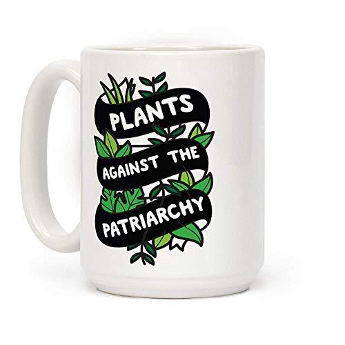 Thee Mok, Koffie Beker, Planten Tegen De Patriarchie Wit 15 Ounce Keramische Koffie Mok