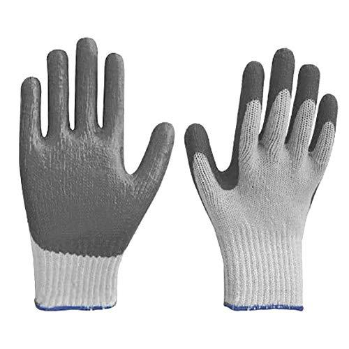 Lotshop All Purpose Huishoudelijke Werkkleding Buiten Tuin Kwaliteit Handschoenen Pack of 4 Wit-grijs
