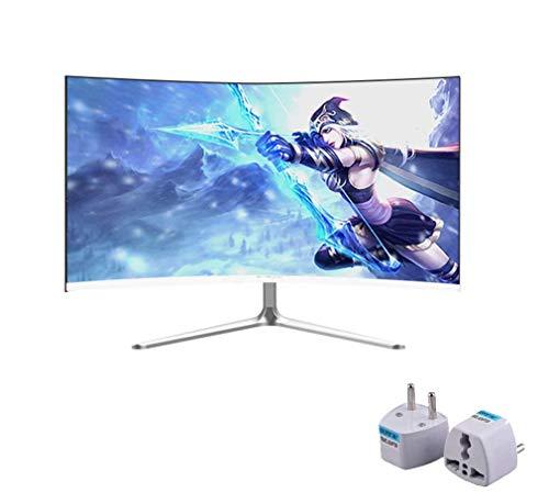 NOOYC 24 inch Anti-Glare LED-backlit LCD Gaming Monitor - (Silver), (2 ms Response Time, Hard Coating IPS, Full HD 1920 x 1080 75hz, HDMI VGA, Tilt and swivel,Thin Bezel),white_24 inch