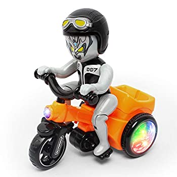 Fisca Electric Stunt Tricycle 360° Spinning Trike Musical Dancing 3 Wheels Motorcycle Toy with Lights for Kids Age 3 4 5 and Up Years Old