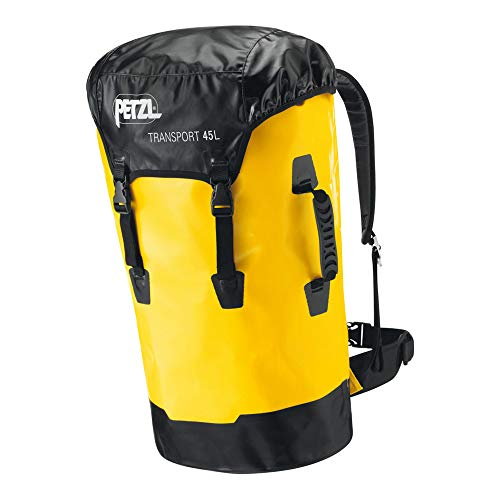 PETZL S42Y 045 TRANSPORT Durable Bag, 45 L, Yellow/Grey/Black