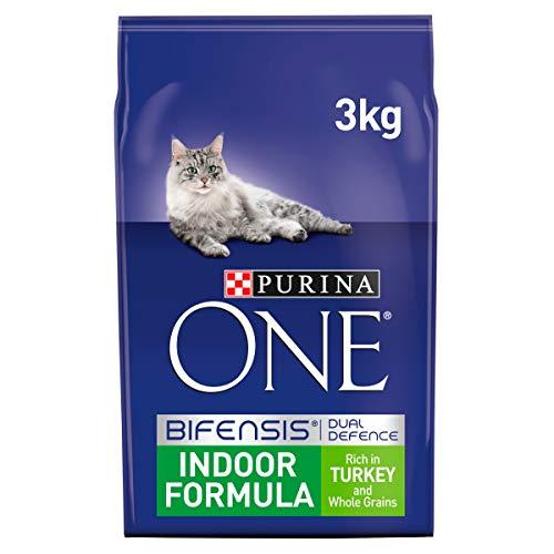 Purina ONE Indoor Dry Cat Food Turkey & Wholegrain, 3kg