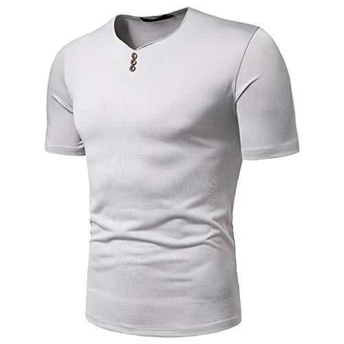 SSBZYES Herren T-Shirt Herren Kurzarm Herren Herren Lässig V-Ausschnitt High Stretch Loose European Code Kurzarm T-Shirt Herren Casual Top Sommer