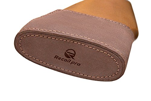Recoil Pad Shotgun for Rifles Slip On Genuine Leather Padding Inserts Adjustable Premium Quality (Brown)