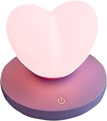 テーブルランプベッドサイドランプナイトライトギフトランプ寮愛シリコーンランプ (パープル)