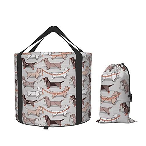 Cubo de agua plegable para perros de salchicha Origami, ideal para camping, viajes y jardinería