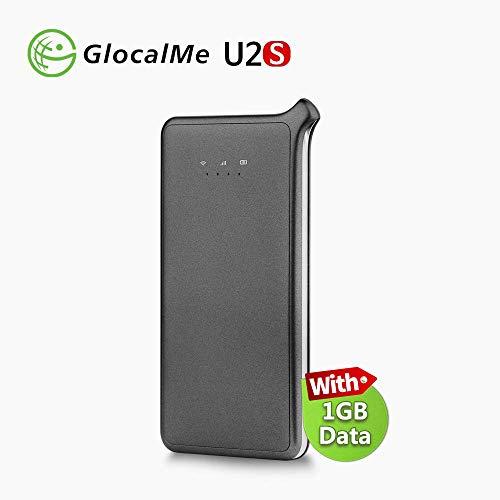 GlocalMe U2S 4G LTE Mobiler WLAN Router, Hotspot MIFI mit 1GB globalen Daten, Si...