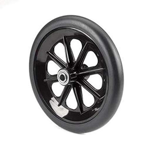 The Aftermarket Group Wheelchair Caster Assembly, 8-Spoke Rim, Black, 8