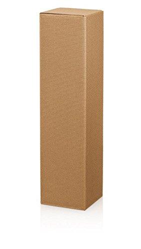 10 Stück Dekowell Classic Natur, Weinverpackung, Geschenkkarton, Flaschenverpackung für eine Flasche Wein/Sekt