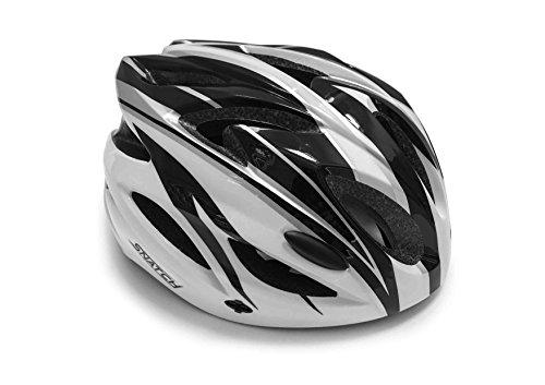SNATCH Casco Bici Ciclismo MTB – Ventilazione Forzata a 18 Fori – Peso: 170gr. – by Italy (Nero/Bianco)