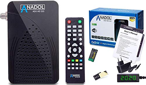 [ Test 2X GUT *] Anadol HD 333 1080p HD-TV - digitaler Mini Sat-Receiver - Multistream Receiver -Full-HD Mini-Receiver - Mini-Digital-Receiver für Satellit - Astra HOTBIRD TÜRKSAT vorinstalliert
