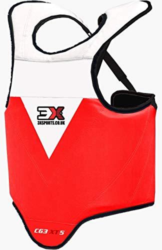 3X Professional Choice Boxen Körperschutz Kampfsport Körperschutzweste Kampfweste Taekwondo MMA Krav MAGA Karate trainieren Körperpanzer Bauchschutz Jungs Mädchen (CE-Zertifiziert)
