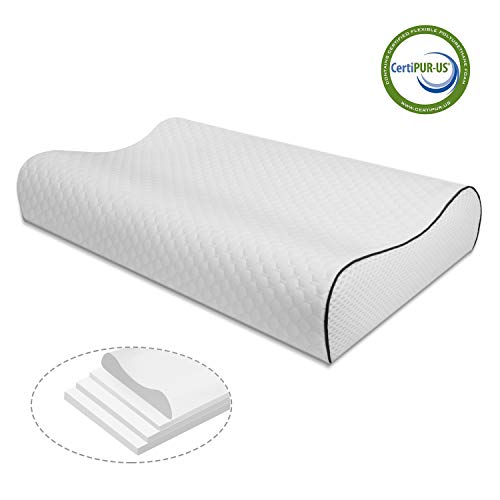 Vesgantti Memory Foam Pillow 4 Layers Adjustable Height review