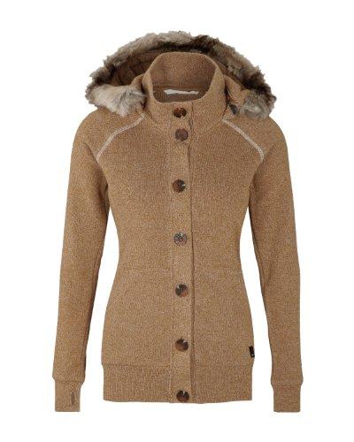 Bench Damen Sweatshirt Sweatjacke Bachata braun (rubber) Large