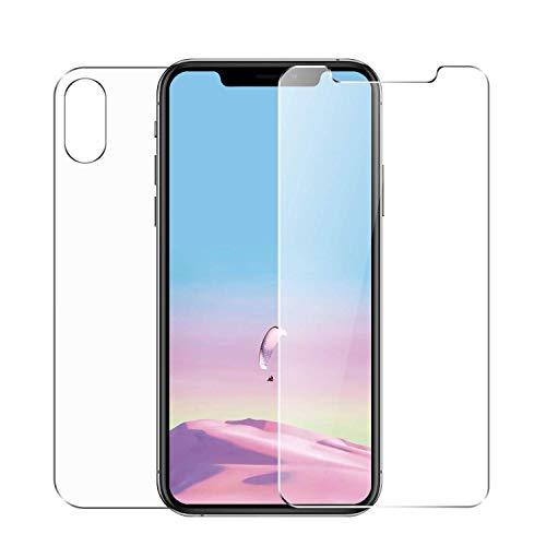 Conleke Protector de Pantalla para Apple iPhone XS MAX, Vidrio Templado, Frente & atrás,6.5'