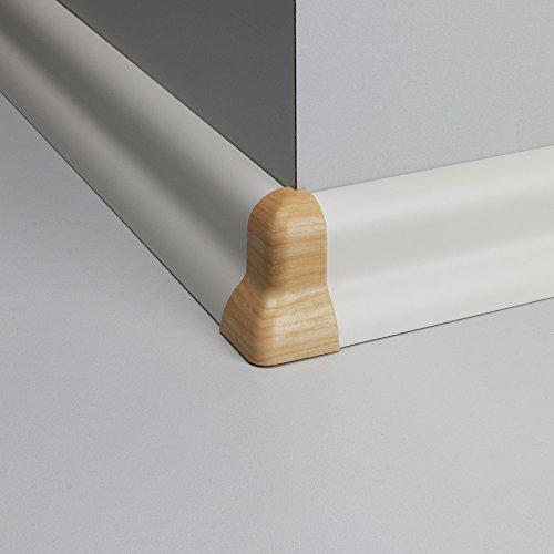 Außenecke Kunststoff für Profilsockelleiste Ahorn