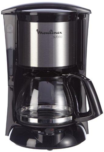 Moulinex FG1508 Kaffeemaschine Subito Mini, 6 Tassen, 0.6 L, edelstahl matt